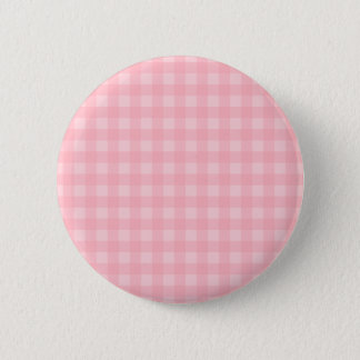 Retro Pink Gingham Checkered Pattern Background 6 Cm Round Badge