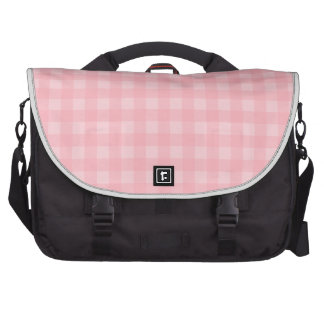 Retro Pink Gingham Checkered Pattern Background Laptop Computer Bag