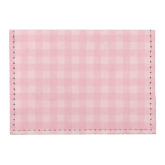 Retro Pink Gingham Checkered Pattern Background Tyvek® Card Wallet
