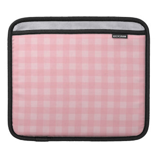 Retro Pink Gingham Checkered Pattern Background Sleeve For iPads