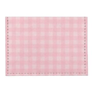 Retro Pink Gingham Checkered Pattern Background Tyvek® Card Wallet