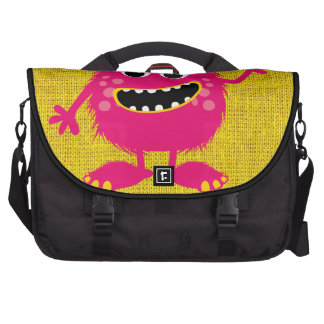 Retro Pink Girly Monster Commuter Bags