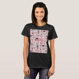 Retro Pink Grid and Starbursts T-Shirt