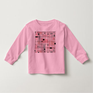 Retro Pink Grid and Starbursts Toddler T-Shirt