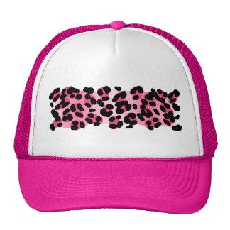 Retro Pink Leopard Print Cap