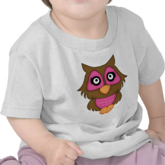 Retro Pink Owl Tee Shirt