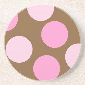 Retro Pink Polka Dots Coaster