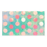 Retro Pink Polka Dots Hipster Turquoise Pattern