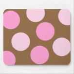 Retro Pink Polka Dots Mousepad