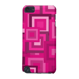 Retro Pink Squares Pattern iPod Touch 5G Covers