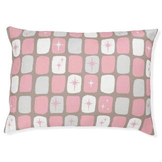 Retro Pink Starbursts Dog Bed