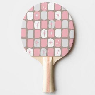 Retro Pink Starbursts Ping Pong Paddle