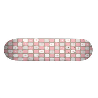 Retro Pink Starbursts Skateboard