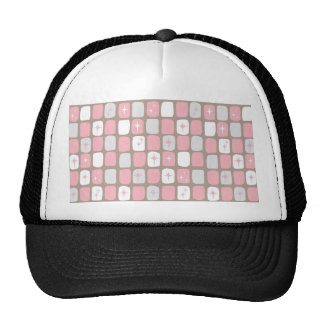 Retro Pink Starbursts Trucker Hat