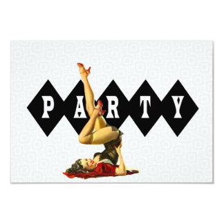 Retro Pinup Girl Birthday Party V2 9 Cm X 13 Cm Invitation Card