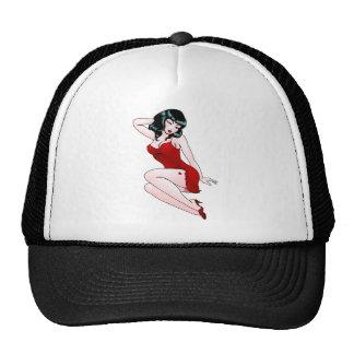 Retro Pinup Girl Cap 50s Pin-up Girl Hats
