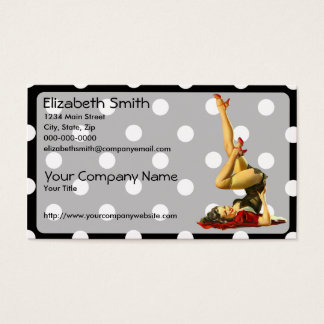 Retro Pinup Girl V4 Business Card