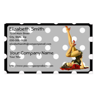 Retro Pinup Girl V4 Pack Of Standard Business Cards