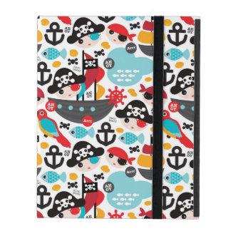 Retro pirates illustration sailing iPad cover