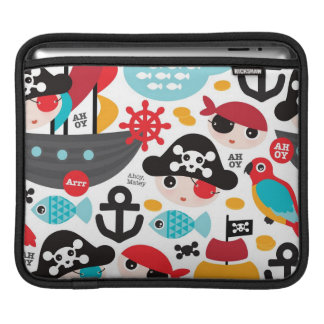 Retro pirates illustration sailing sleeves for iPads