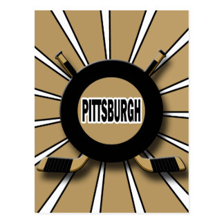 RETRO PITTSBURGH HOCKEY POSTCARD