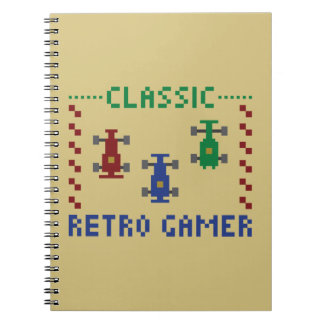 Retro Pixel Race Spiral Notebooks