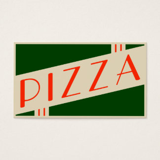 retro pizza business card