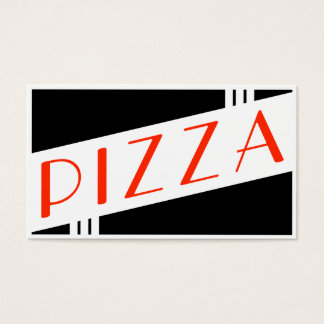 retro pizza customer loyalty business card