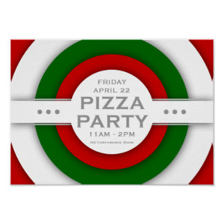 retro PIZZA party Posters