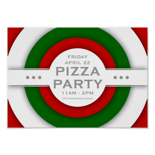 retro PIZZA party Poster