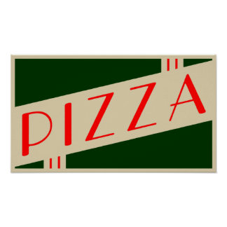 retro pizza poster