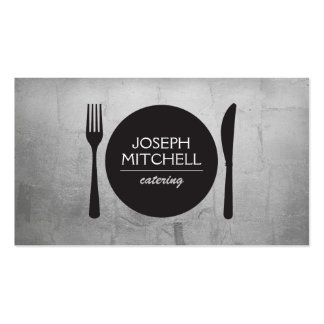 Retro Plate Logo for Chefs, Catering, Restaurants Pack Of Standard Business Cards