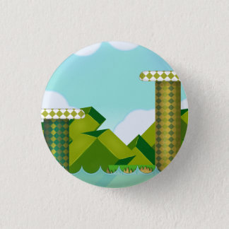 Retro Platform Game 3 Cm Round Badge