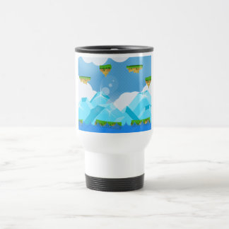Retro Platform Game Stainless Steel Travel Mug