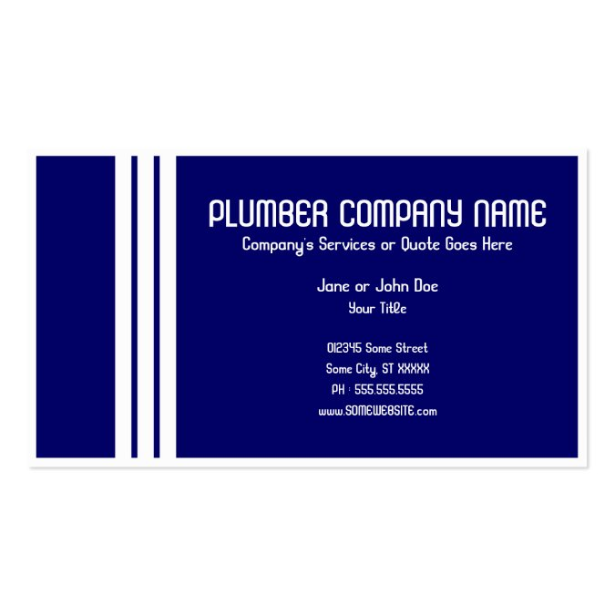 Retro plumber business card template for Retro business card template
