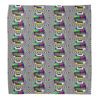 Retro PM5544 Television Test Pattern Bandana
