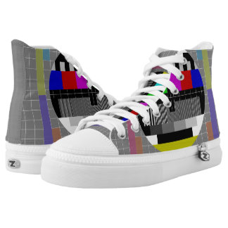 Retro PM5544 Television Test Pattern High Tops