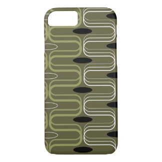 Retro Pod Green Abstract Art iPhone CaseMate iPhone 7 Case
