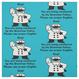 Retro Policeman Use Proper English Grammar Police Fabric