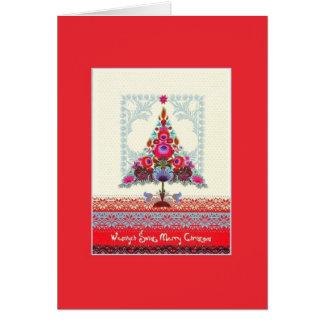 Retro Polish Bilingual Christmas Card