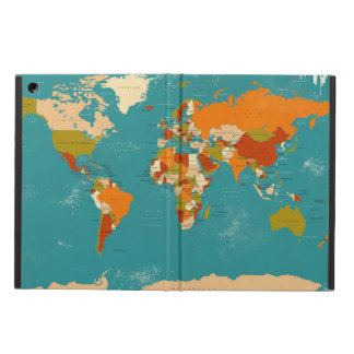 Retro Political Map of the World Case For iPad Air