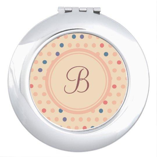 Retro Polka Dot Makeup Mirror