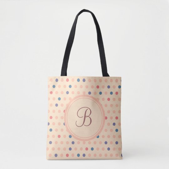 Retro Polka Dot Tote Bag