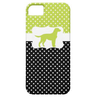 Retro Polka Dot w/Labrador iPhone 5 Cover