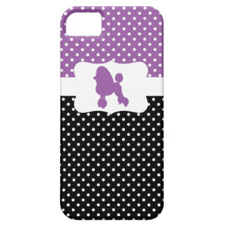 Retro Polka Dot w/Poodle Case For The iPhone 5