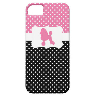 Retro Polka Dot w/Poodle iPhone 5 Cover