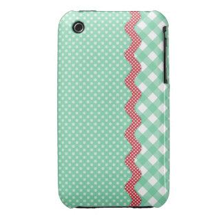 Retro Polka Dots and Checks iPhone 3 Case-Mate Case
