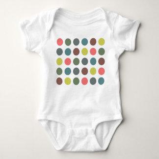 Retro Polka Dots Baby Bodysuit