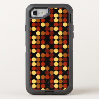 Retro Polka Dots Pattern OtterBox Defender iPhone 7 Case