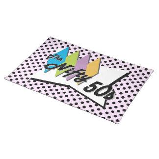 Retro Polka Dots Pink Placemats